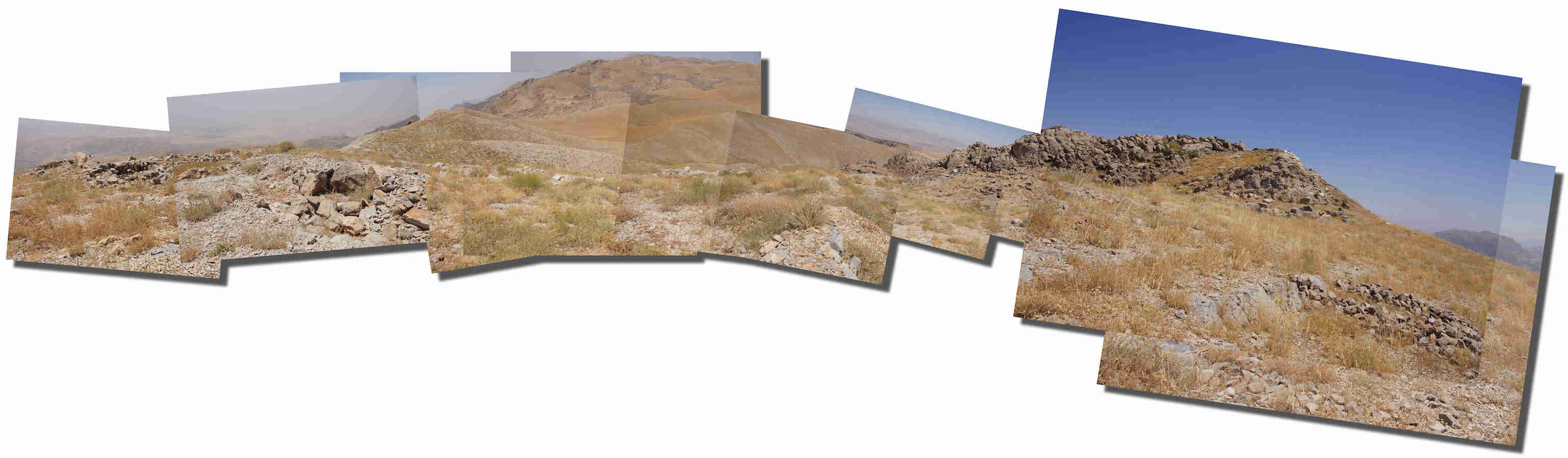 Noah's Ark on Mt. Cudi Summit Panorama