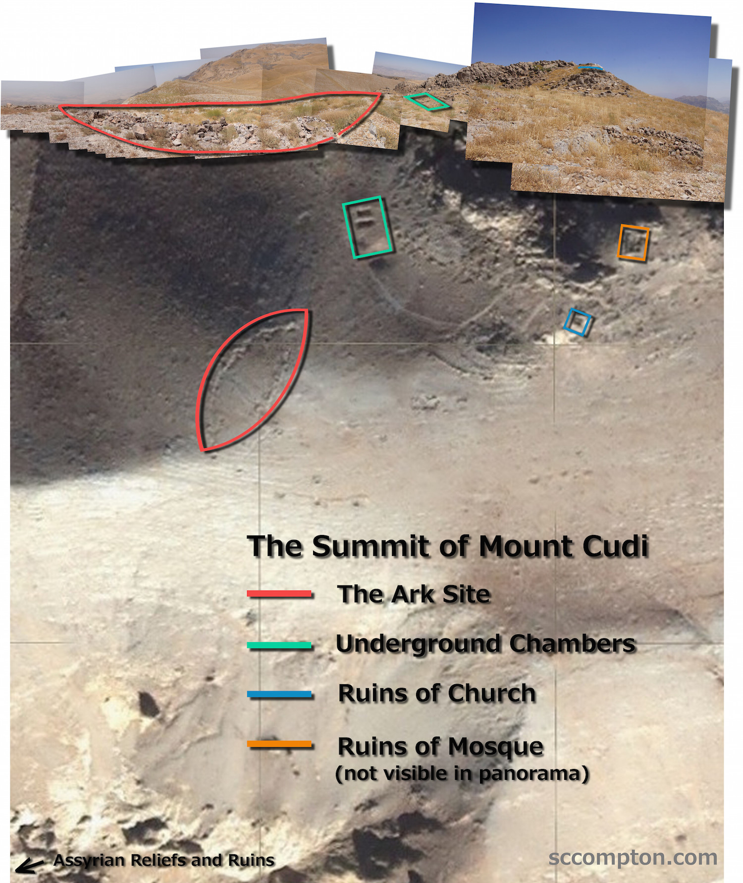Ark on Mount Cudi Annotated